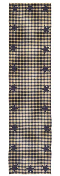 Navy Star Table Runner - 54 inch