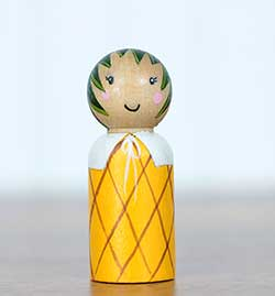 Pineapple Peg Doll (or Ornament)
