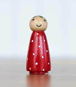 Red Berry Girl Peg Doll (or Ornament)