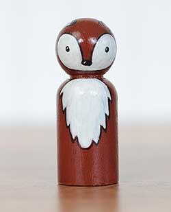 Fox Peg Doll (or Ornament)