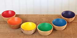 Rainbow Mini Sorting Bowl Set (Set of 6)