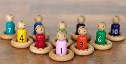 Baby Peg Doll & Ring Counting Matching Set (Set of 20)