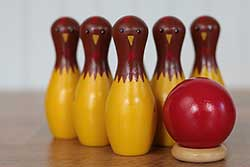 Chicken Tabletop Bowling Set