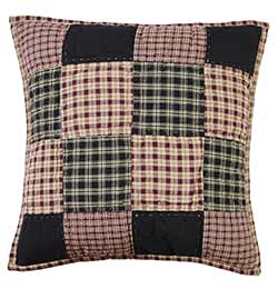 Plum Creek 16 inch Quilted Block Pillow Cover