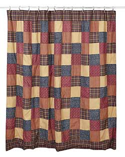 Old Glory Patchwork Shower Curtain