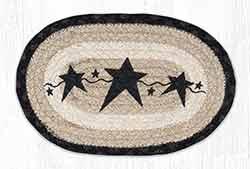 OMSP-313 Primitive Star Black Braided Oval Trivet