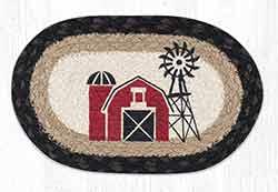 OMSP-313 Windmill Braided Oval Trivet