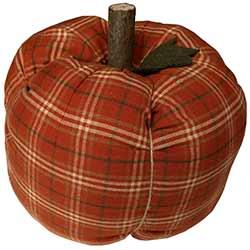 Orange Plaid Pumpkin - Large