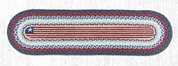 Flag Braided Table Runner - 48 inch