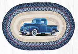 Blue Truck 20 x 30 inch Braided Rug