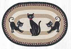 OP-9-238 Crazy Cats 20 x 30 inch Braided Rug