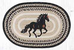 OP-9-93 Stallion 20 x 30 inch Braided Rug