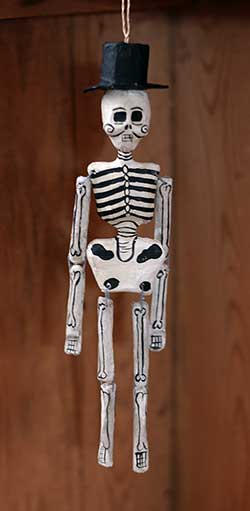 Recycled Paper Skeleton Ornament - Male