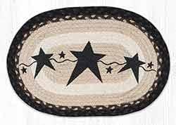 Primitive Star Black Braided Placemat