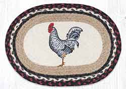Black & White Rooster Braided Placemat