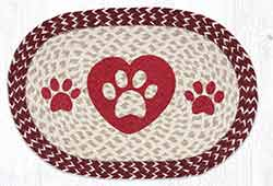 Heart Paws Braided Placemat