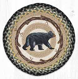 Mama Bear Round Braided Placemat
