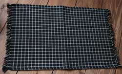 Williamsburg Check Placemat - Black