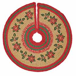 Poinsettia Jute Mini 21 inch Tree Skirt