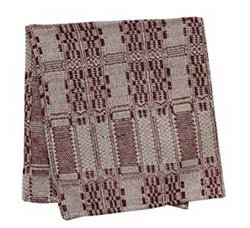 Burgundy & Tan 32 inch Table Runner