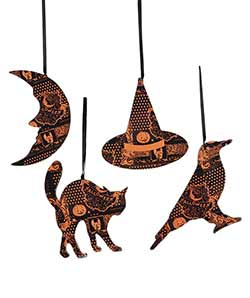 Halloween Magic Ornaments (Set of 4)