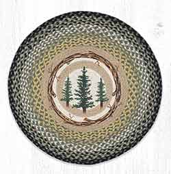 RP-116 Tall Timbers Round Braided Rug