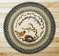 Robin's Nest Braided Jute Rug - Round