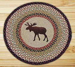 Moose Braided Jute Rug - Round