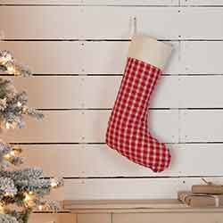Red Plaid 20 inch Stocking