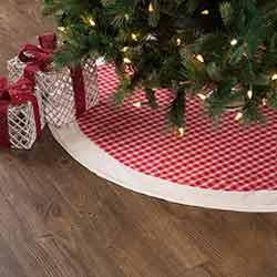 Red Plaid 48 inch Tree Skirt