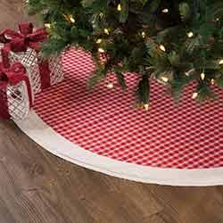 Red Plaid 55 inch Tree Skirt