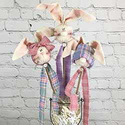 Spring Bunny Wands (Set of 3)