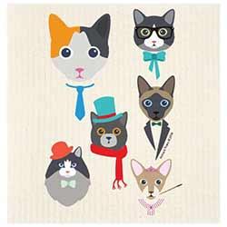 Cat Characters Swedish Dishcloth