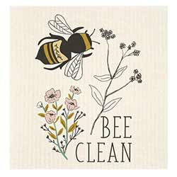 Bee Clean Bees Swedish Dishcloth