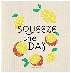 Squeeze The Day Lemon Swedish Dishcloth