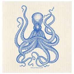 Blue Octopus Swedish Dishcloth