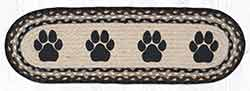 ST-OP-313 Paw Prints Oval Stair Tread