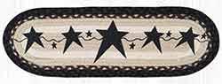 ST-OP-313 Primitive Stars Black Oval Stair Tread