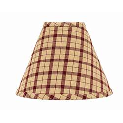 Salem Check Red Lamp Shade - 10 inch