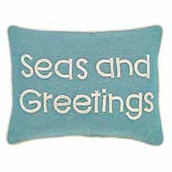 Sanbourne Seas and Greetings Pillow (14x18)