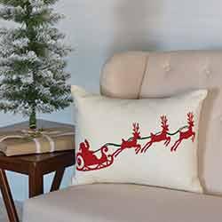 Santa Sleigh Pillow (14x18)