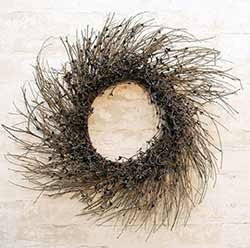 Black & Gray Pip Berry & Twig 22 inch Wreath