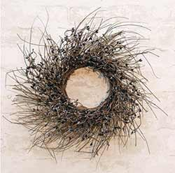 Black & Gray Pip Berry & Twig 16 inch Wreath