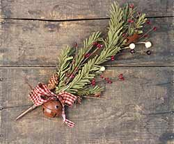 Primitive Holiday Pine Pick