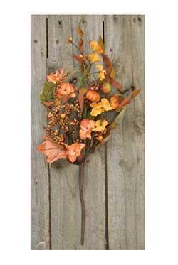 Flower & Pumpkin Garden Pick