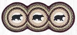 TCP-395 Cabin Bear Braided Tri Circle Table Runner