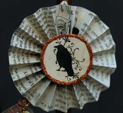 Halloween Rosette Ornament - Crow