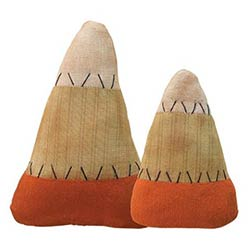 Primitive Stuffed Candy Corn (Set of 2)