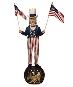 Large Uncle Sam Figurine