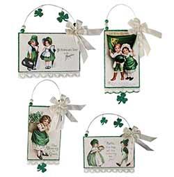 St. Patrick's Postcard Ornament
